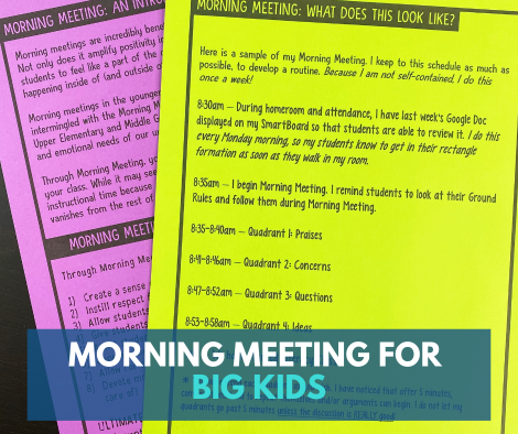 Morning Meeting in Your Upper Elementary Classroom